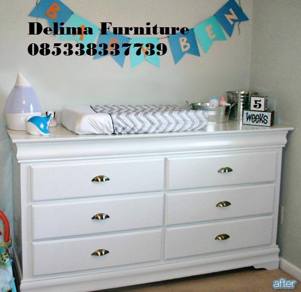 Baby Tafel 6 Laci Minimalis Warna Putih
