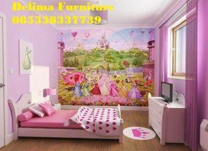 Kamar Tidur Anak Perempuan Frozen Pink