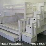 Ranjang Susun Anak Putih 3 Bed Murah