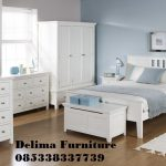 Set Kamar Tidur Minimalis Putih Harga Murah