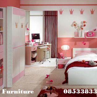Set kamar Tidur Anak Perempuan Cantik Mempesona