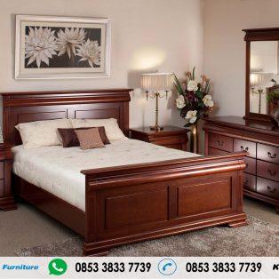 Tempat Tidur Jati Jepara Model Minimalis