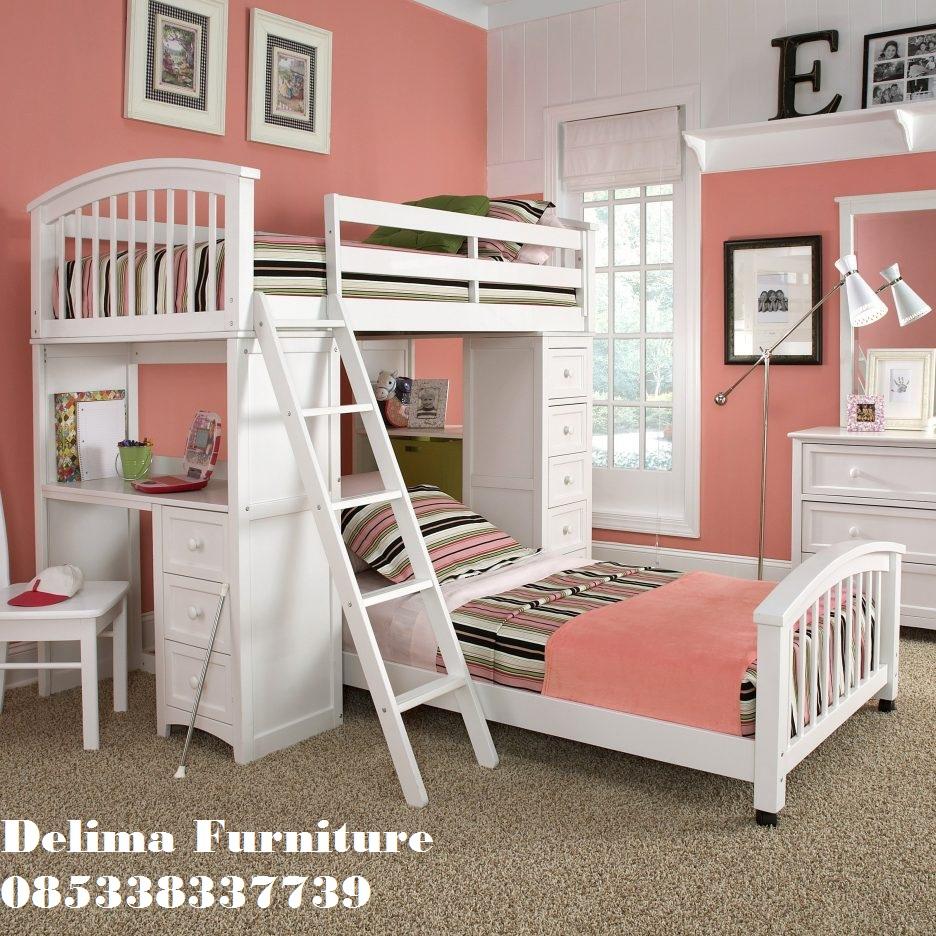Tempat Tidur Tingkat Bawahnya Meja Belajar 2 Bed