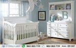 Set Kamar Bayi Putih Minimalis Moms
