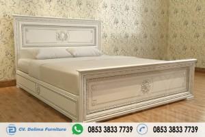 Tempat Tidur Minimalis Ukir Klasik Mutiara