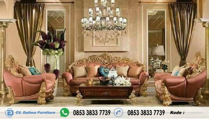 Kursi Tamu Ukiran Klasik Mewah Waldorf