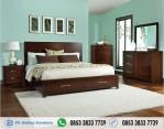 Set Tempat Tidur Simpel Minimalis Jati