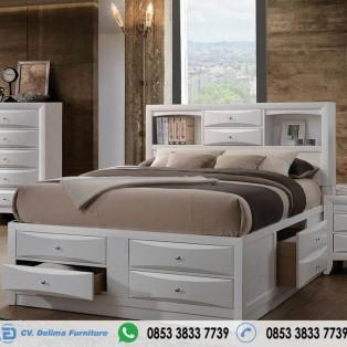 Tempat Tidur Laci Dan Rak Minimalis