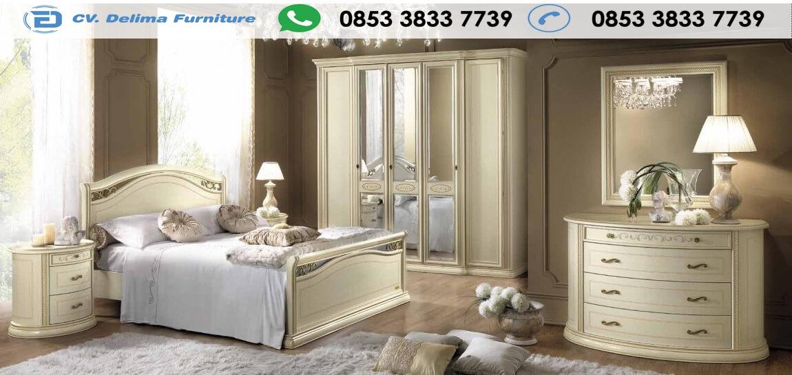 Set Tempat Tidur Minimalis Warna putih Elegan
