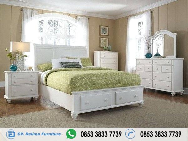 Set Tempat Tidur Minimalis Warna putih Murah