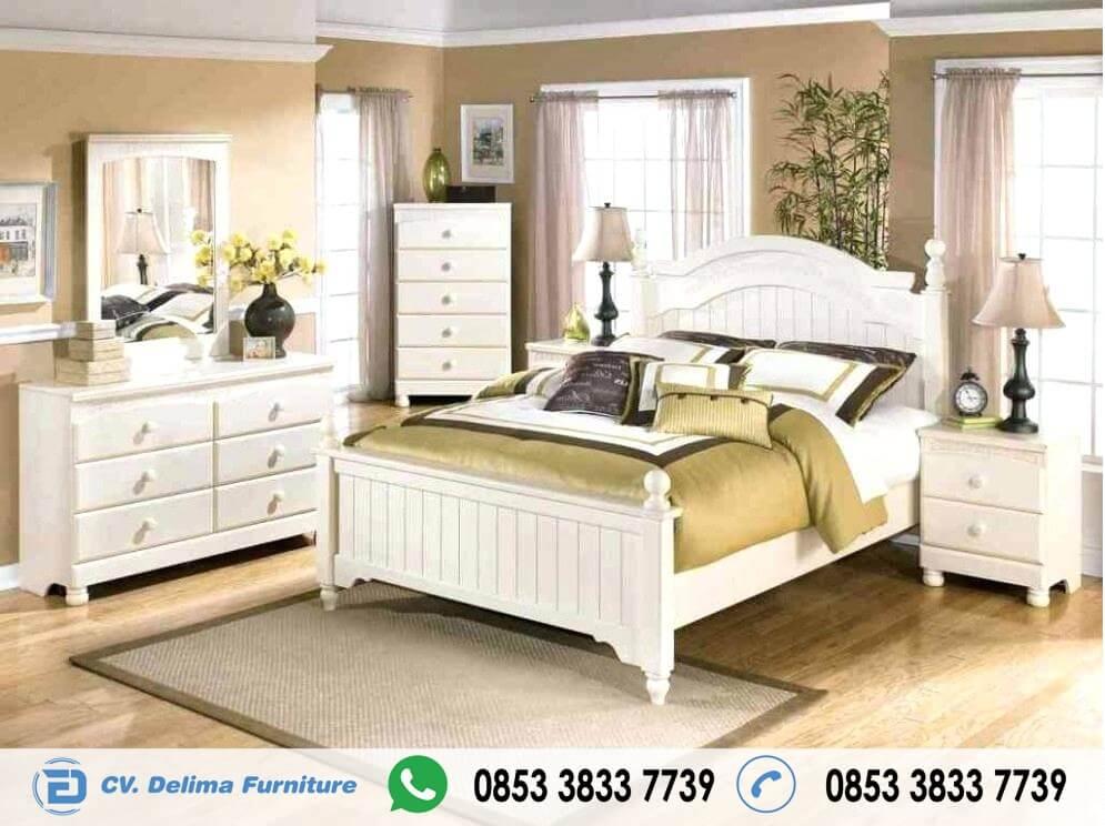 Set Tempat Tidur Minimalis Warna putih Terbaru