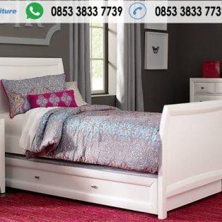Tempat Tidur Anak Minimalis Warna Putih