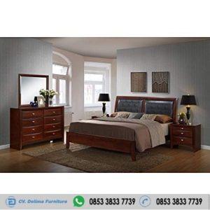 Set Tempat Tidur Kayu Jati Headboard