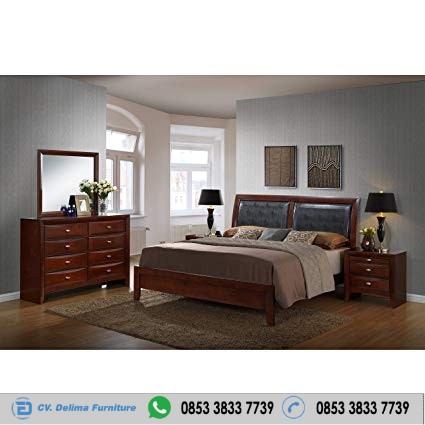 Set Tempat Tidur Kayu Jati Hadboard