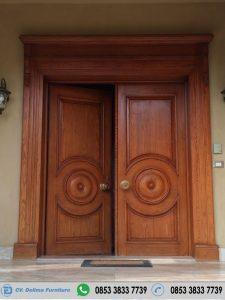 Pintu Rumah Kupu Tarung Model Bulat Besar