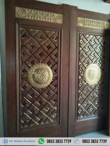 Pintu Rumah Utama Model Ukiran Masjid Nabawi