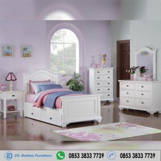 Set Kamar Tidur Anak Warna Putih