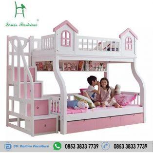 Tempat Tidur Anak Tingkat Motif Jendela