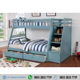 Tempat Tidur Tingkat Grey Harga Murah