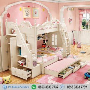 Tempat Tidur Tingkat Klasik Anak Perempuan