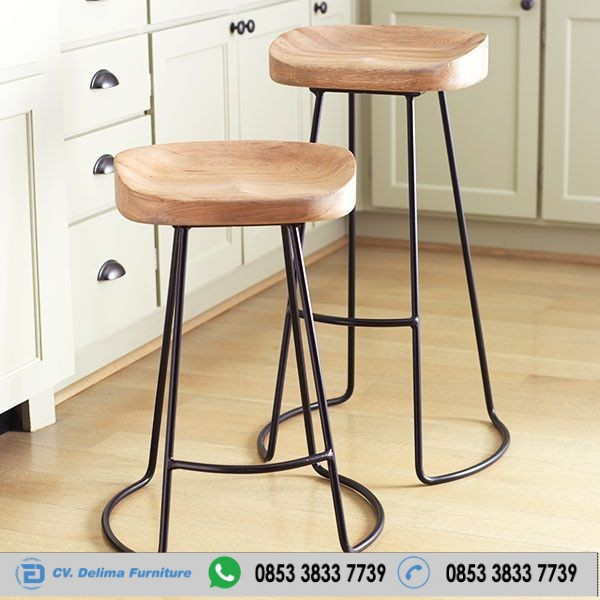 Kursi Cafe Stool Modern Seri Industrial