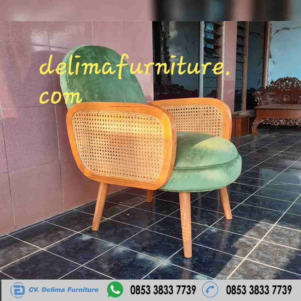 Kursi Sofa Cafe Antik Retro Singel