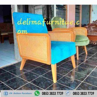 Kursi Sofa Cafe Singel Retro