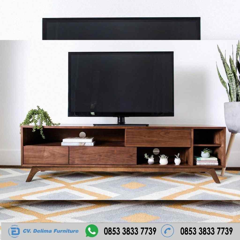 Bufet Tv Kayu Jati Retro Pendek