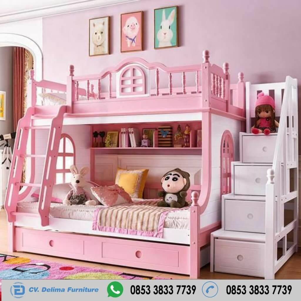 Tempat Tidur Tingkat Ranjang Susun Kasur Anak DF-TT004