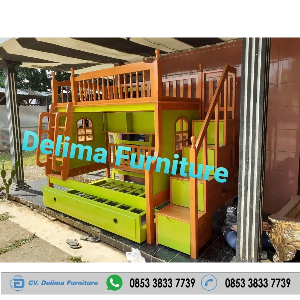 Tempat Tidur Tingkat Ranjang Susun Kasur Anak DF-TT017 Tangerang