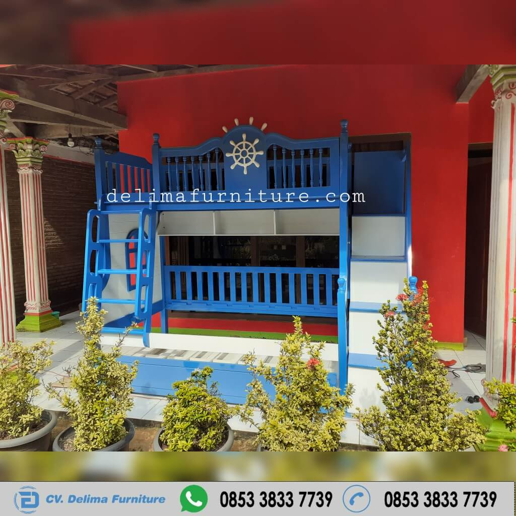 Tempat Tidur Tingkat Ranjang Susun Kasur Anak DF-TT013 Malang