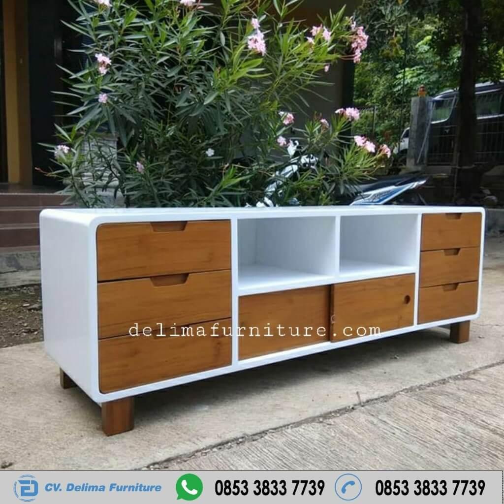 Bufet Tv Ikea Minimalis Modern Putih Natural