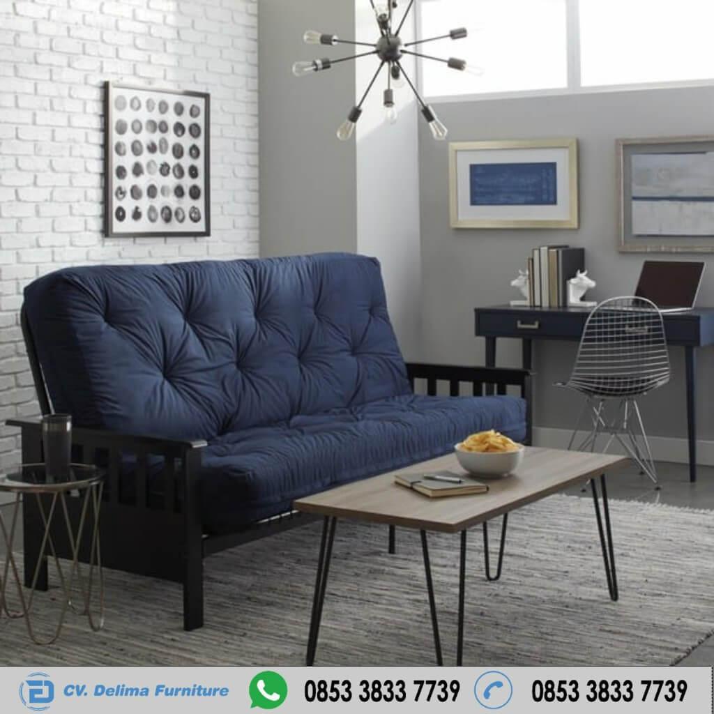 Kursi Sofa 2 Seater Dudukan Kancing Unik