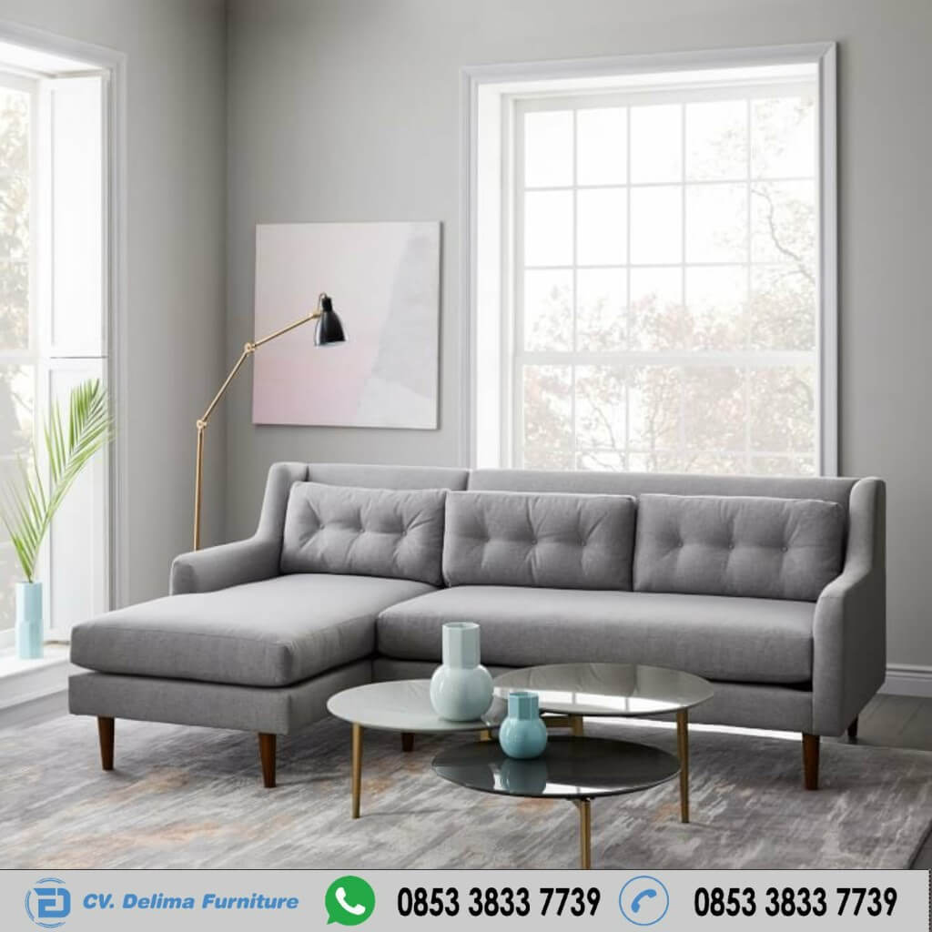 Kursi Tamu Sofa Model Sudut Retro Modern