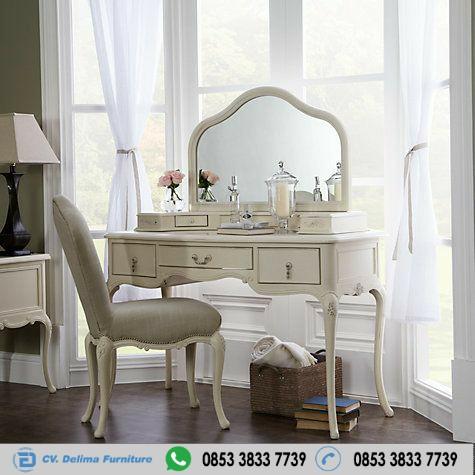 Meja Rias Duco Putih Modern Klasik