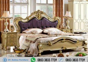 Ranjang Tidur Klasik Warna Emas Gold