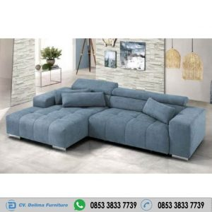 Kursi Sofa Keluarga Santai Model Sudut Minimalis