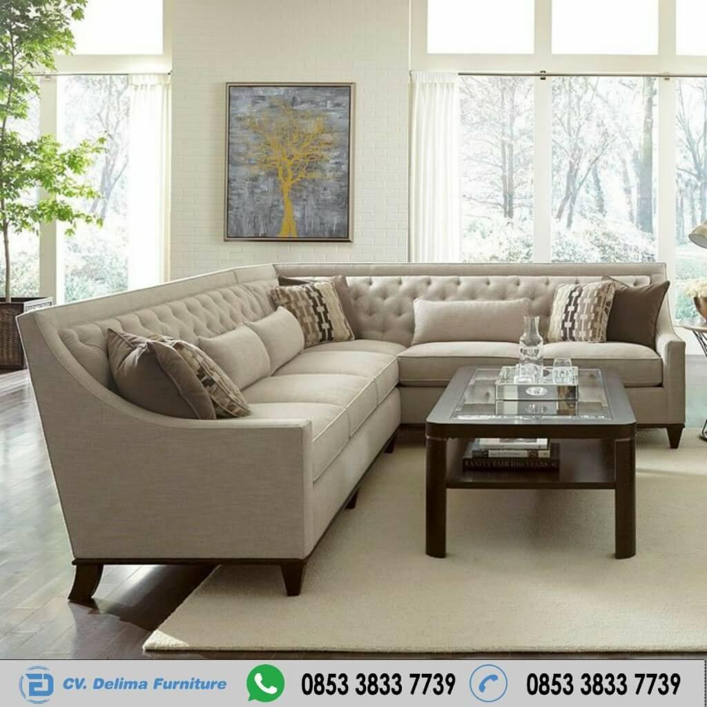 Sofa Tamu Sudut Wythr Bean Minimalis Cover