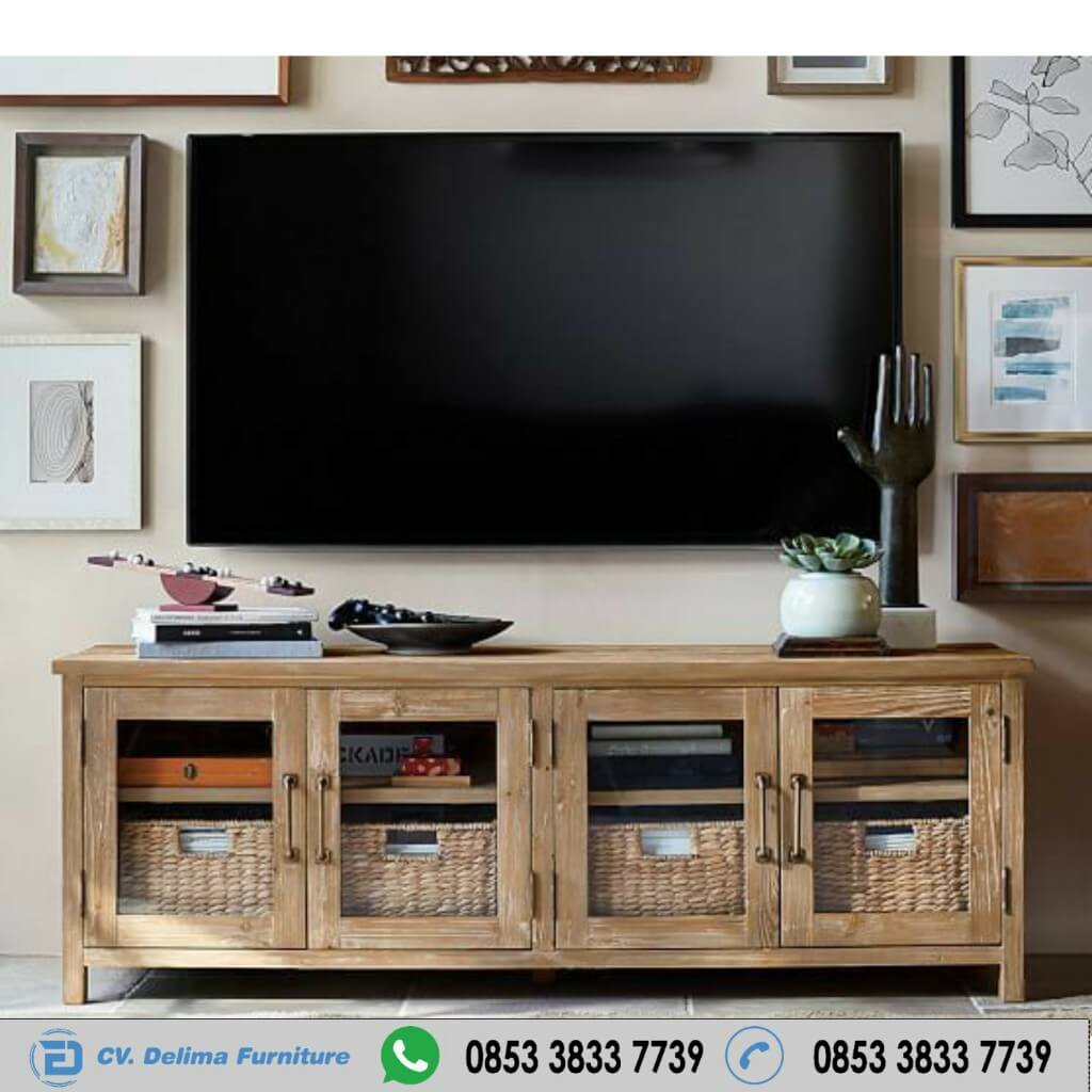 Bufet Tv Minimalis Antik Wood Jati