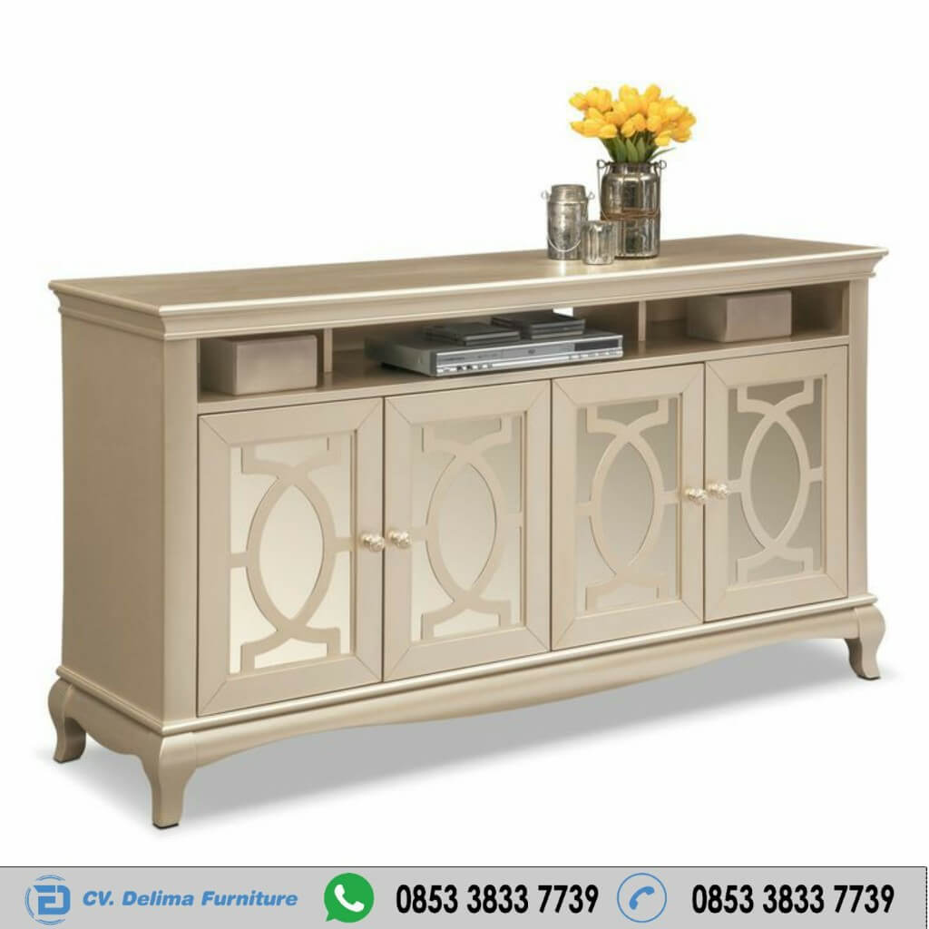 Bufet Tv Modern Warna Gold Tembaga