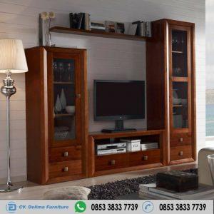 Lemari Bufet Tv Kayu Jati Minimalis Modern