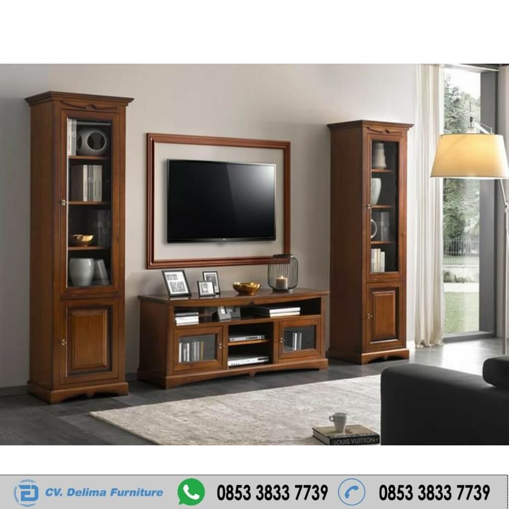 Lemari Tv Cabinet Minimalis Jati Jepara