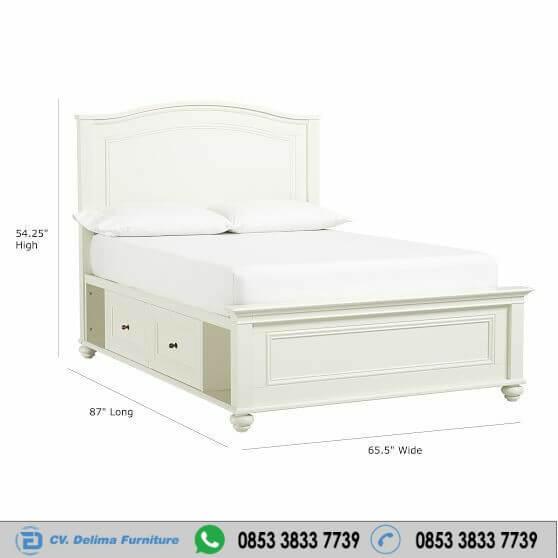 Tempat Tidur Minimalis Chelsea Warna Putih