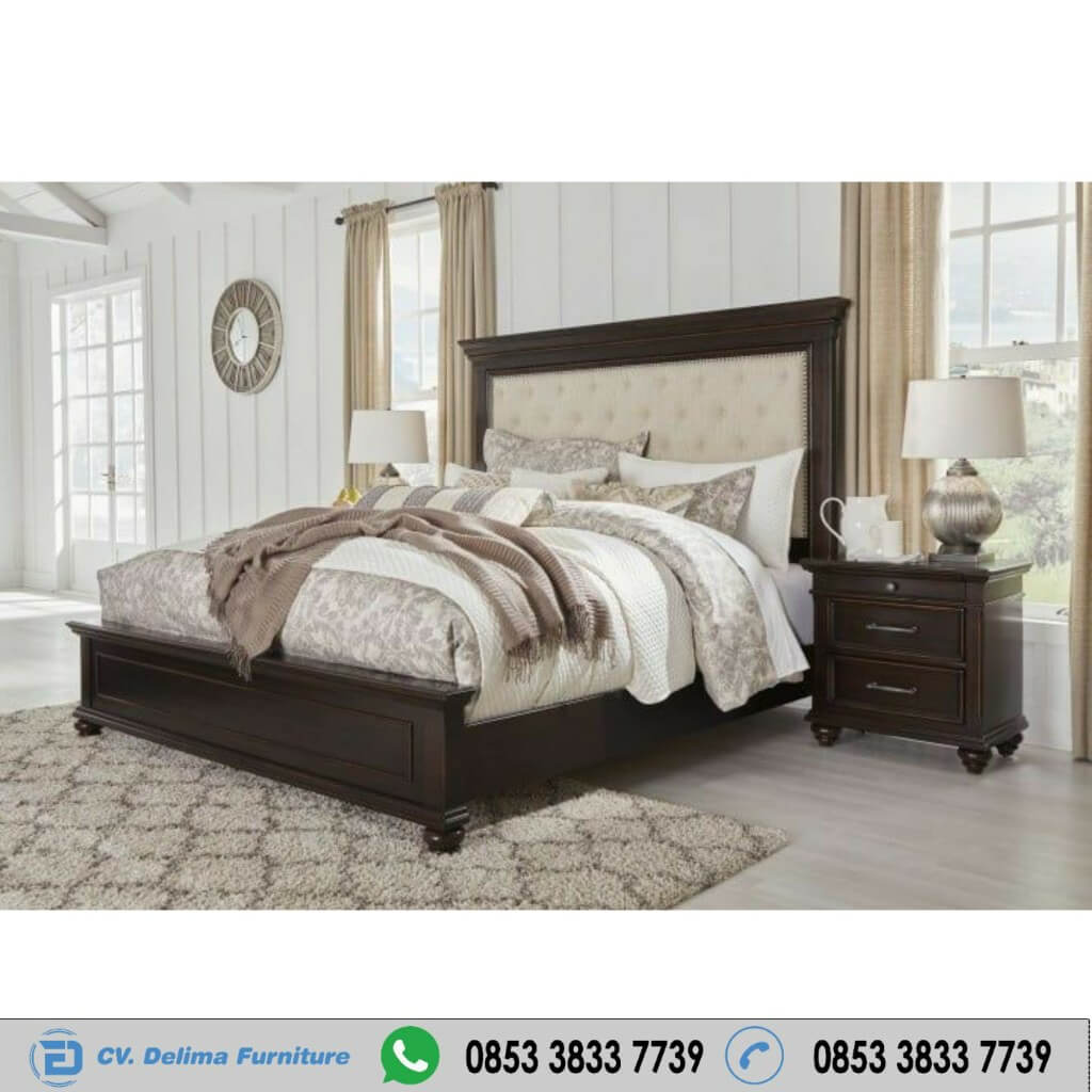 Tempat Tidur Minimalis Panel Beds Dark Brown
