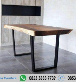 Meja Kayu Solid Trembesi Panjang 180 cm